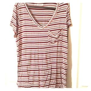 Red & White stripped T-shirt